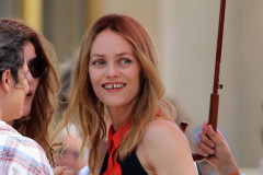Vanessa Paradis On The Set Of 'Homo Sapiennes'