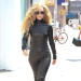 Lady Gaga Showing Off Her Black Leather Jumpsuit