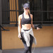 Rosie Huntington Leaves The Gym