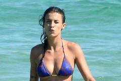 Elisabetta Canalis Showing Off Her Bikini Body