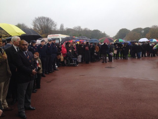 British serviceman Harold Coe Percival died without family; hundreds of strangers attend service in remembrance