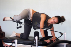 Semi-Exclusive... Alessandra Ambrosio Works Out At Pilates Class