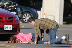 Ashley Greene Films Her Death Scene For 'Burying The Ex'