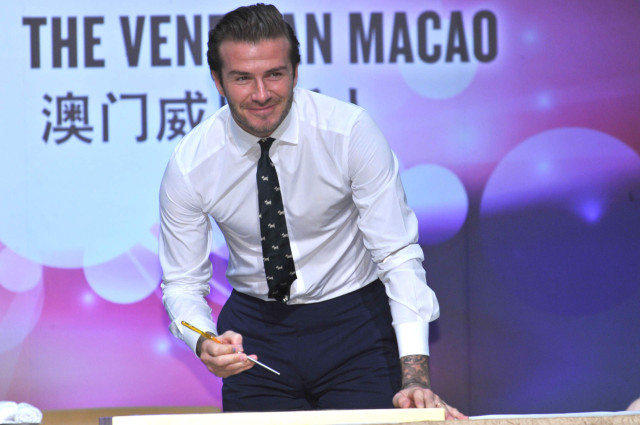 David Beckham Attends A Press Conference In China