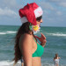 Claudia Romani Showing Her Christmas Spirit in Miami