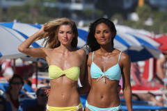 Jessica Hart & Gracie Carvalho Rock Bikinis In Miami