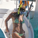 The Wanteds Max George and model girlfriend Nina Agdel are spotted enjoying a boatride while on holiday in Barbados