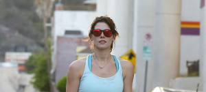 Ashley Greene Works Up A Sweat