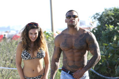 Kelly Brook & David McIntosh Enjoy Miami Together