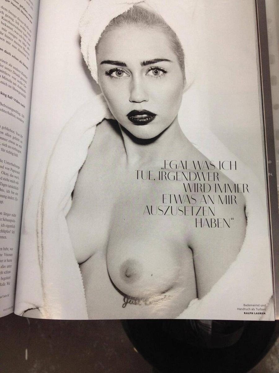 Miley Cyrus Nude Vogue Germany