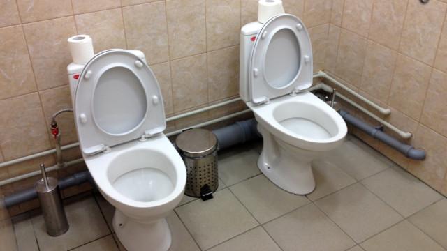 Sochi Olympics Twin Toilets