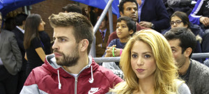Shakira & Gerard Pique Attend FC Barcelona vs Fenerbahce Ulker Istanbul Game