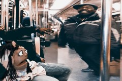 Man Goes Nuts over  A puppet on New York Subway