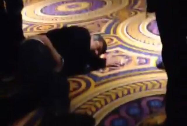 Lopez passes out drunk on casino floor