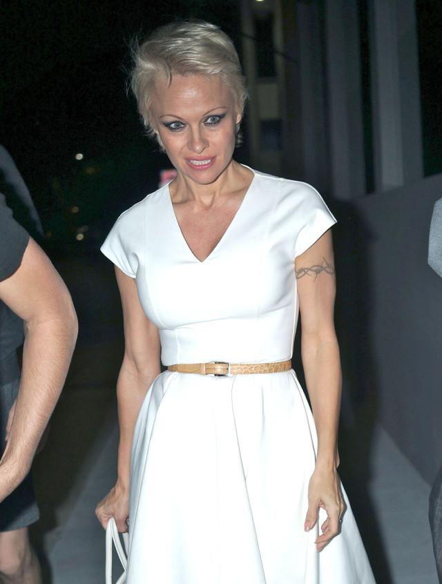 Pamela Anderson & Rick Salomon Out For Dinner
