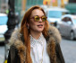 Lindsay Lohan Is All Smiles In NYC