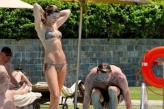 Abbey Clancy Shows Off Her Bikini Body