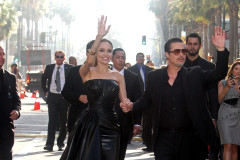 Angelina Jolie and Brad Pitt at MALEFICENT World Premiere in Hollywood