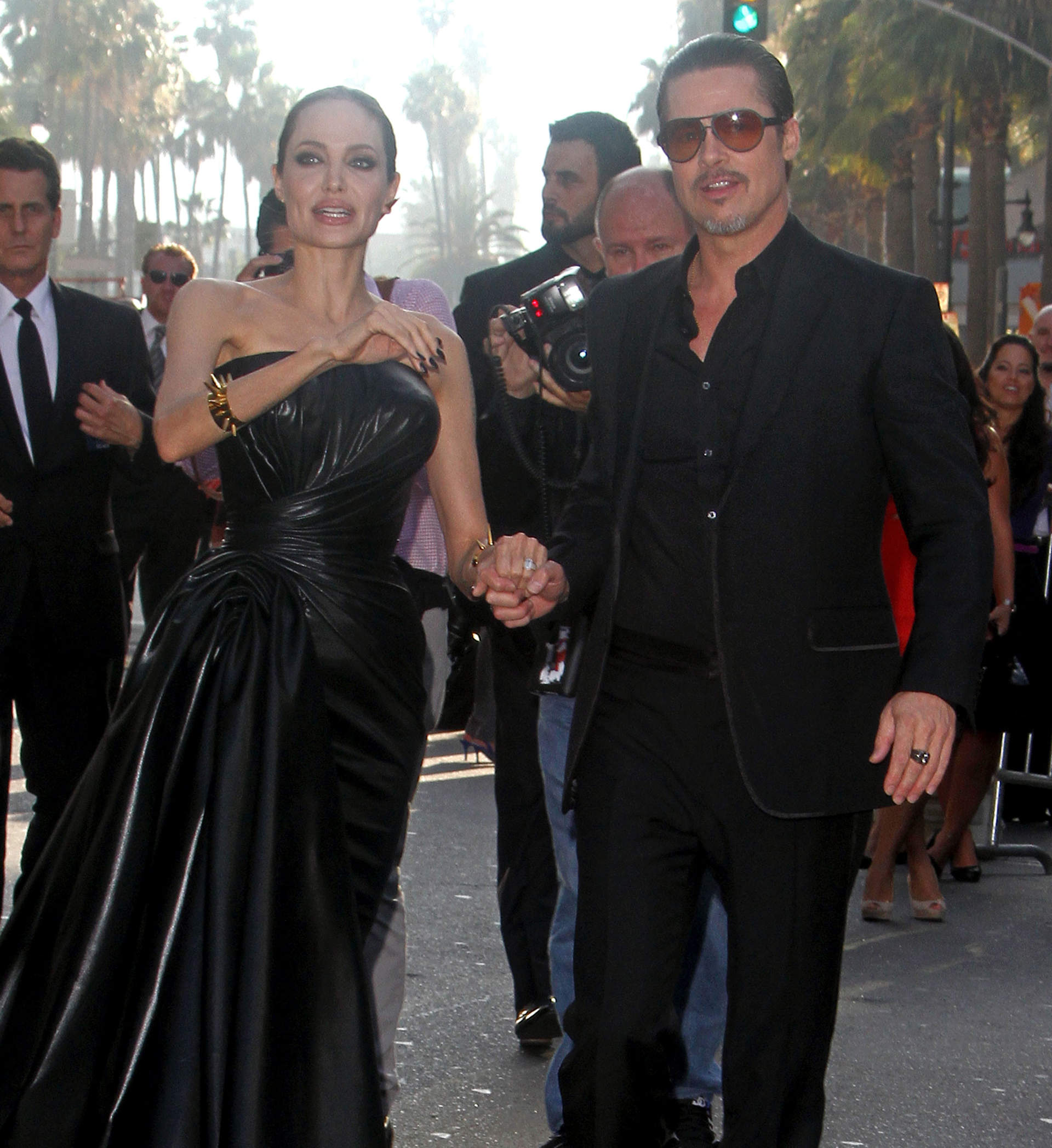 angelina jolie and brad pitt at maleficent world premiere