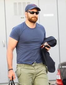 Bradley Cooper Rocks A Thick Beard In Beverly Hills