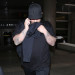 Fat Rob Kardashian Arriving On A Flight At LAX