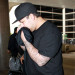 Fat Rob Kardashian Arriving On A Flight At LAX