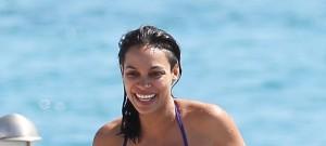 Rosario Dawson Goes For A Swim In Cannes