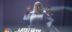"Sia Performance: ""Chandelier"" Feat. Lena Dunham - Late Night with Seth Meyers"