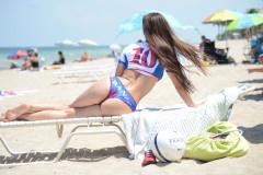 Anais Zanotti Shows Her Love For France In Miami