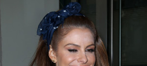 Maria Menounos Has A Make-Up Malfunction In New York