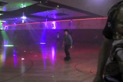 Justin Bieber roller skating at Chris Brown's 1st Annual Skate Jam Party in LA - June 28, 2014