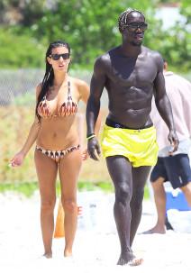 Bacary Sagna & Wife Jet Ski In Miami
