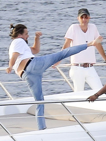 Leo DiCaprio Karate Kicks Weight Critics with Active Display on Yacht in St Tropez
