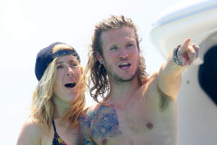 Ellie Goulding & Dougie Poynter Vacation In Ibiza