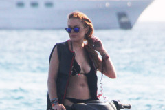 Lindsay Lohan Goes Jet Skiing In Greece
