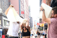 Rita Ora Does Ice Bucket Challenge In NYC
