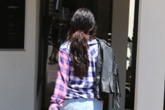 Selena Gomez Rocks Short Shorts To A Meeting