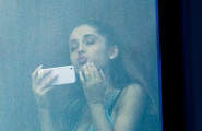 Ariana Grande Blows Kisses To Her Fans