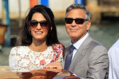 Newlyweds George Clooney And Amal Alamuddin Emerge From The Aman Hotel In Venice