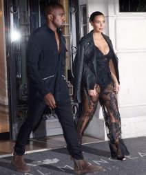 Kim Kardashian & Family At Their Hotel In Paris