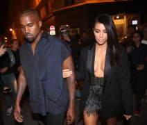 Kanye West & Kim Kardashian Head To The Lanvin Fashion Show