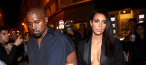 Kanye West & Kim Kardashian Head To The Lanvin Fashion Show