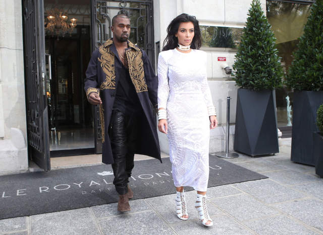 Kim & Kanye Have A Busy Day In Paris