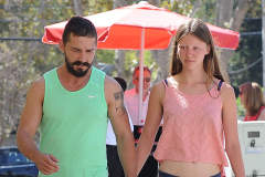 Shia LaBeouf & Mia Goth Grab Breakfast