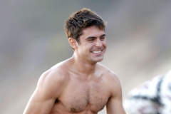 "Zac Efron Hits The Beach For ""We Are Your Friends"""