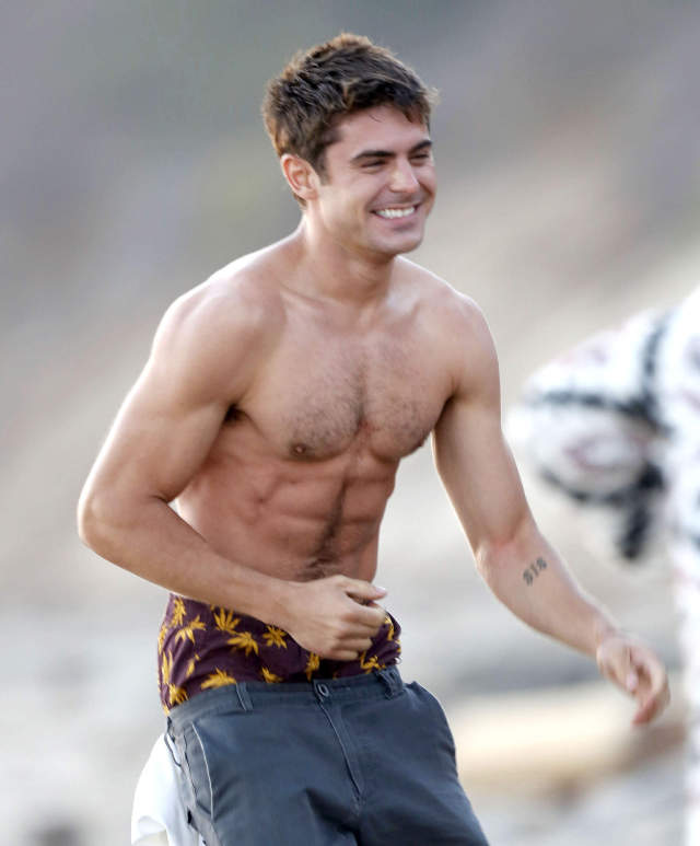 """Zac Efron Hits The Beach For """"We Are Your Friends"""""""