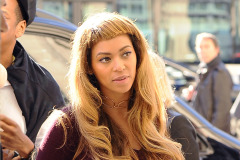 Beyonce Debuts New Hair Bangs Before Leaving Paris