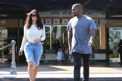 Kanye West & Kim Kardashian Enjoy A Sunday Movie Date