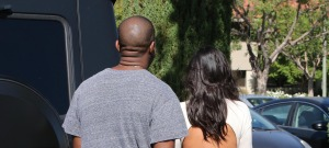 Kanye West & Kim Kardashian Enjoy A Sunday Movie Date