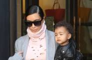 Kim Kardashian & North Check Out Of Paris